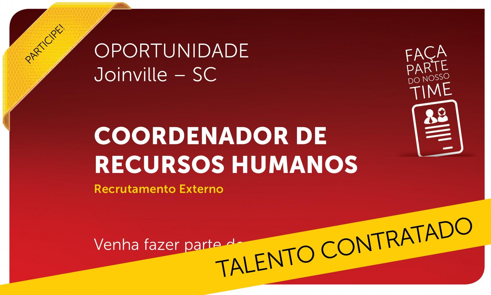 Coordenador de Recursos Humanos   Joinville - SC