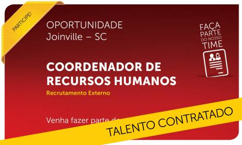 Coordenador de Recursos Humanos | Joinville - SC
