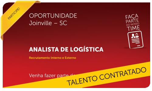 Analista de Logística | Joinville - SC