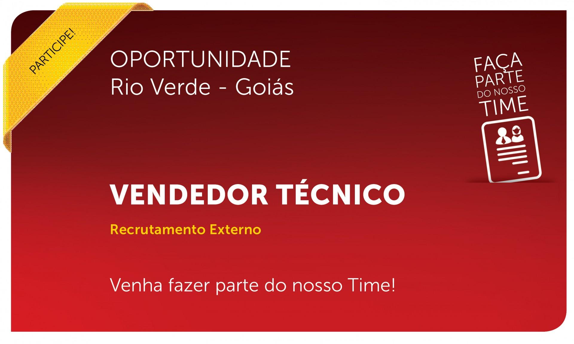 Vendedor Técnico | Rio Verde - GO