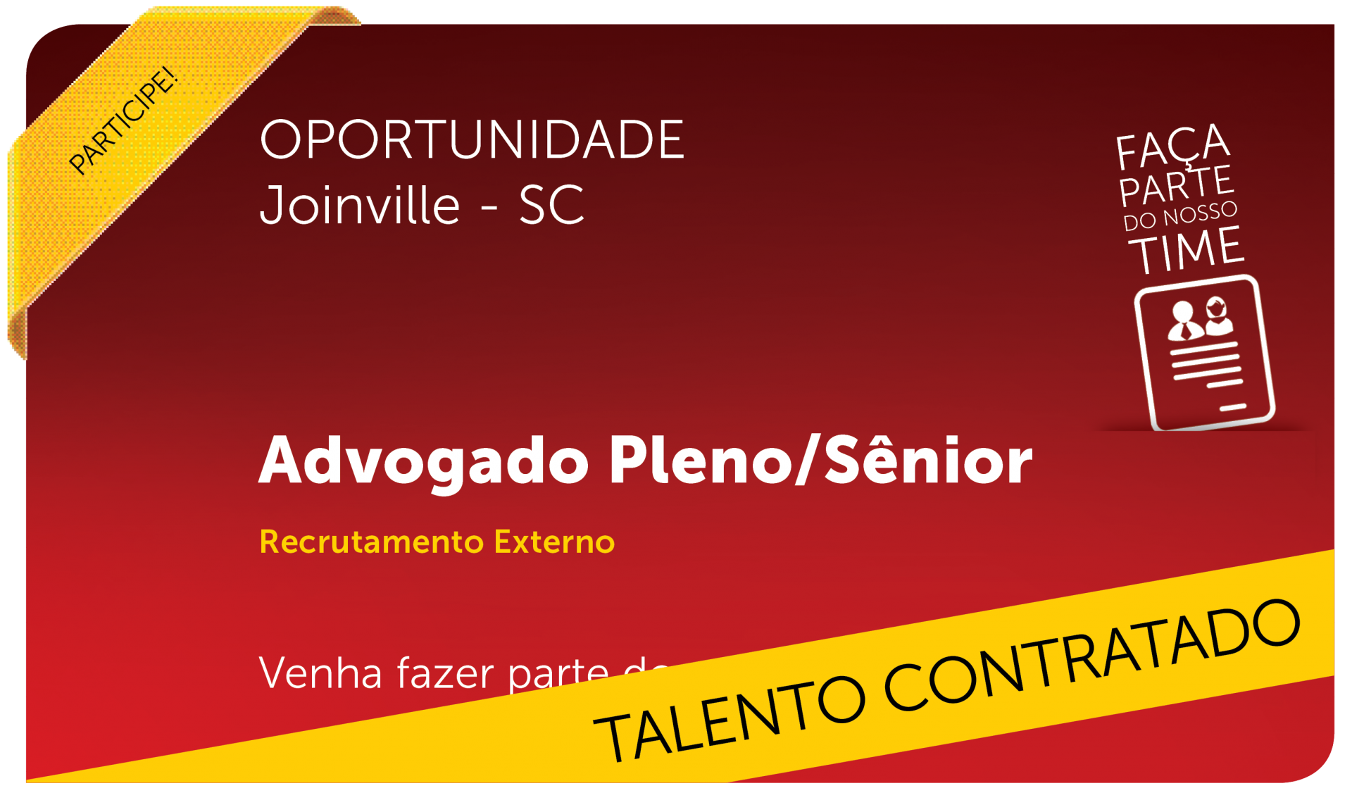Advogado Pleno/Sênior | Joinville - SC