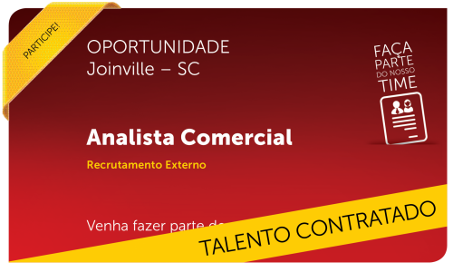 Analista Comercial | Joinville - SC