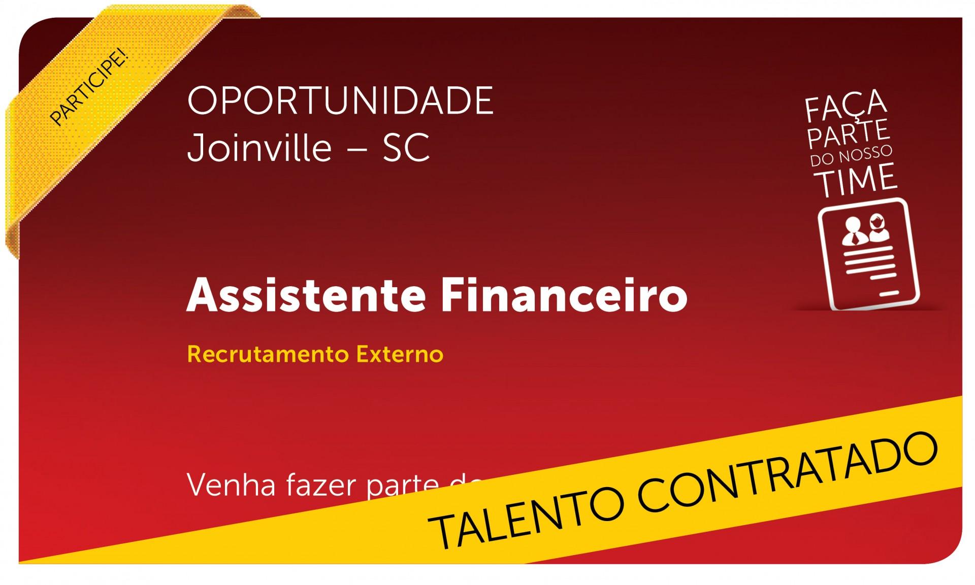Assistente Financeiro | Joinville - SC