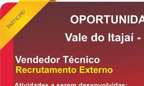 Vendedor Tecnico Vale do Itajai