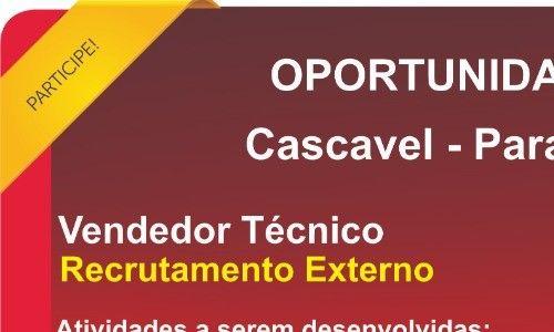Vendedor Tecnico Casvavel