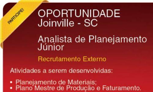 Analista de Planejamento Jr | Joinville - SC