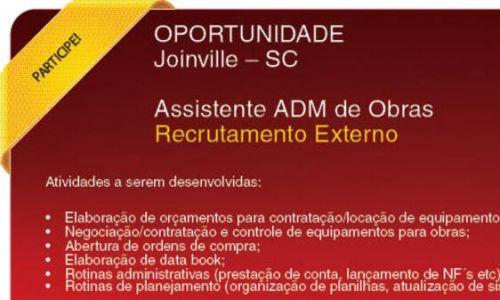 Assistente ADM de Obras | Joinville - SC